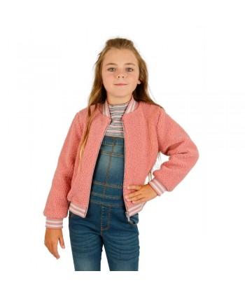 Cazadora de niña rosa Rispelo