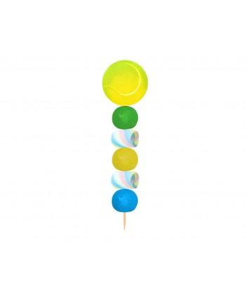 Brocheta de golosinas pelota de tenis