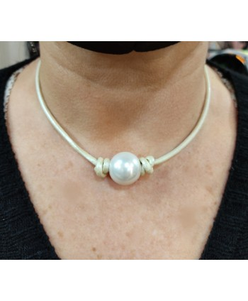 colgante perla cristal 2cm