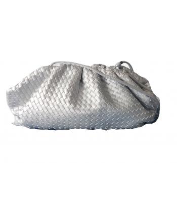 bolso bandolera trenzado color plata (mate)