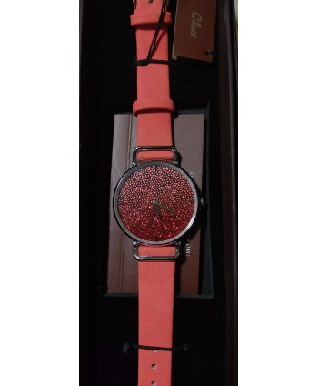 reloj Cluci glitter rojo