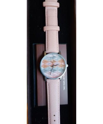 reloj  de señora cluci rombos rosa