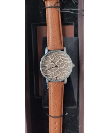 reloj señora cluci marrón con tul