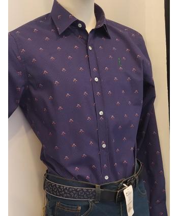 Camisa Banderitas España Marino