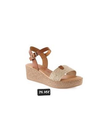 Sandalia piel/gel