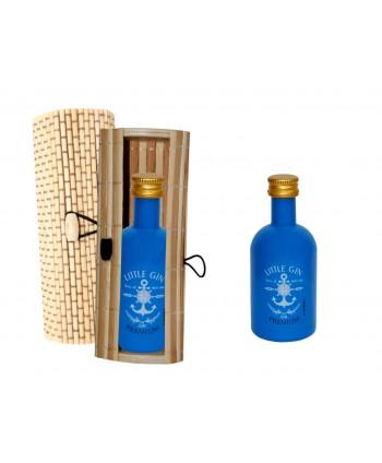Gin premiun 5 cl caja madera 8520