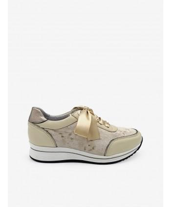 Sneakers Combinado Lazo